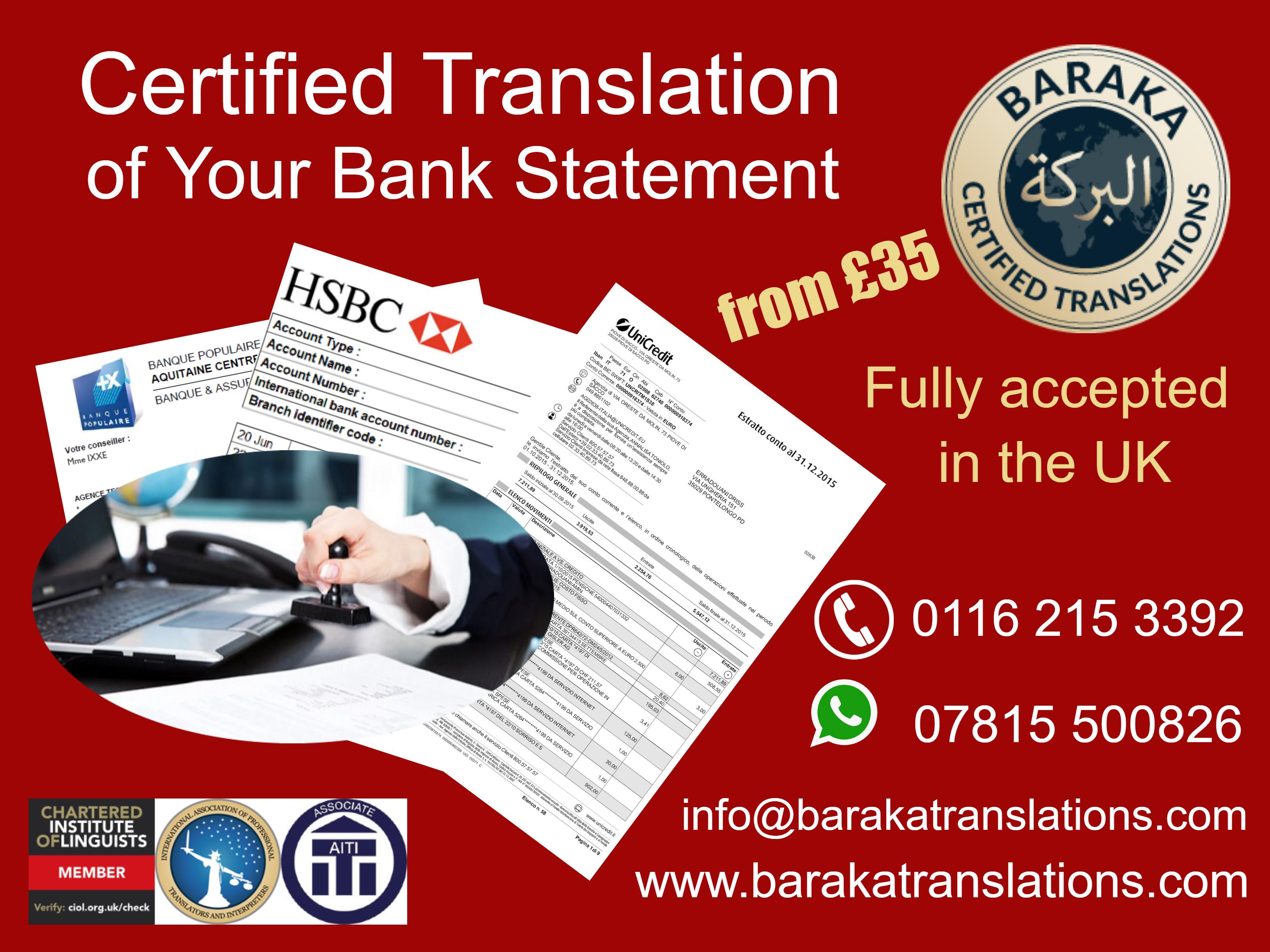 bank statement poster