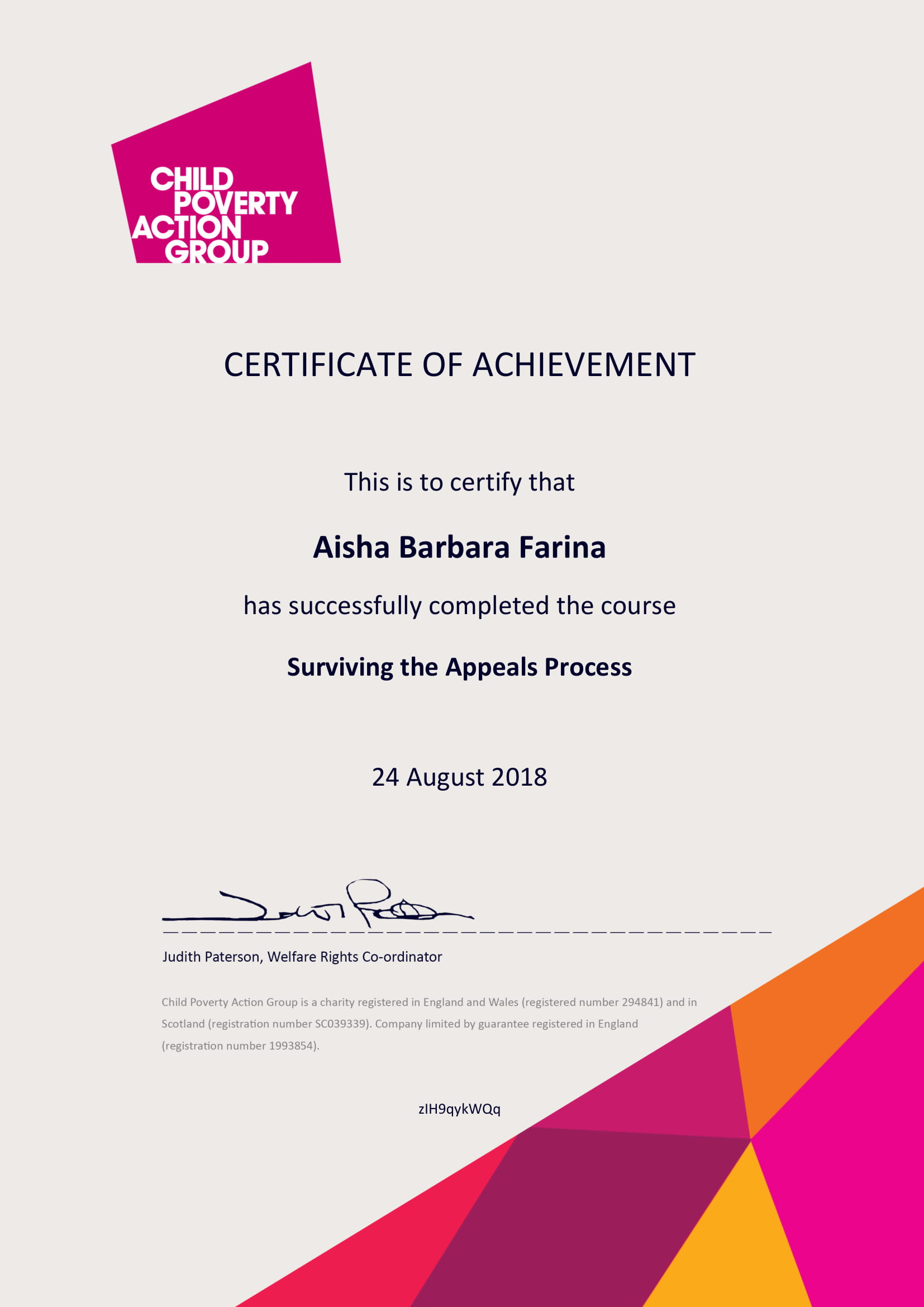 Certificate of Completion appeals process-1