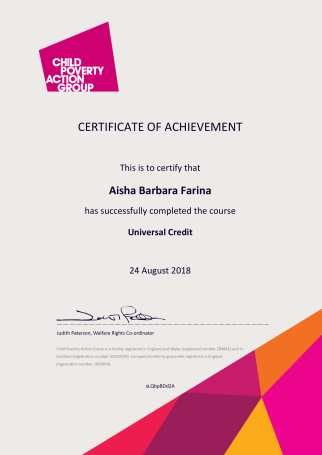 Certificate of Completion universal credit-1