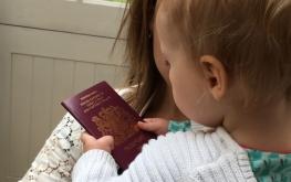 BABY british passport