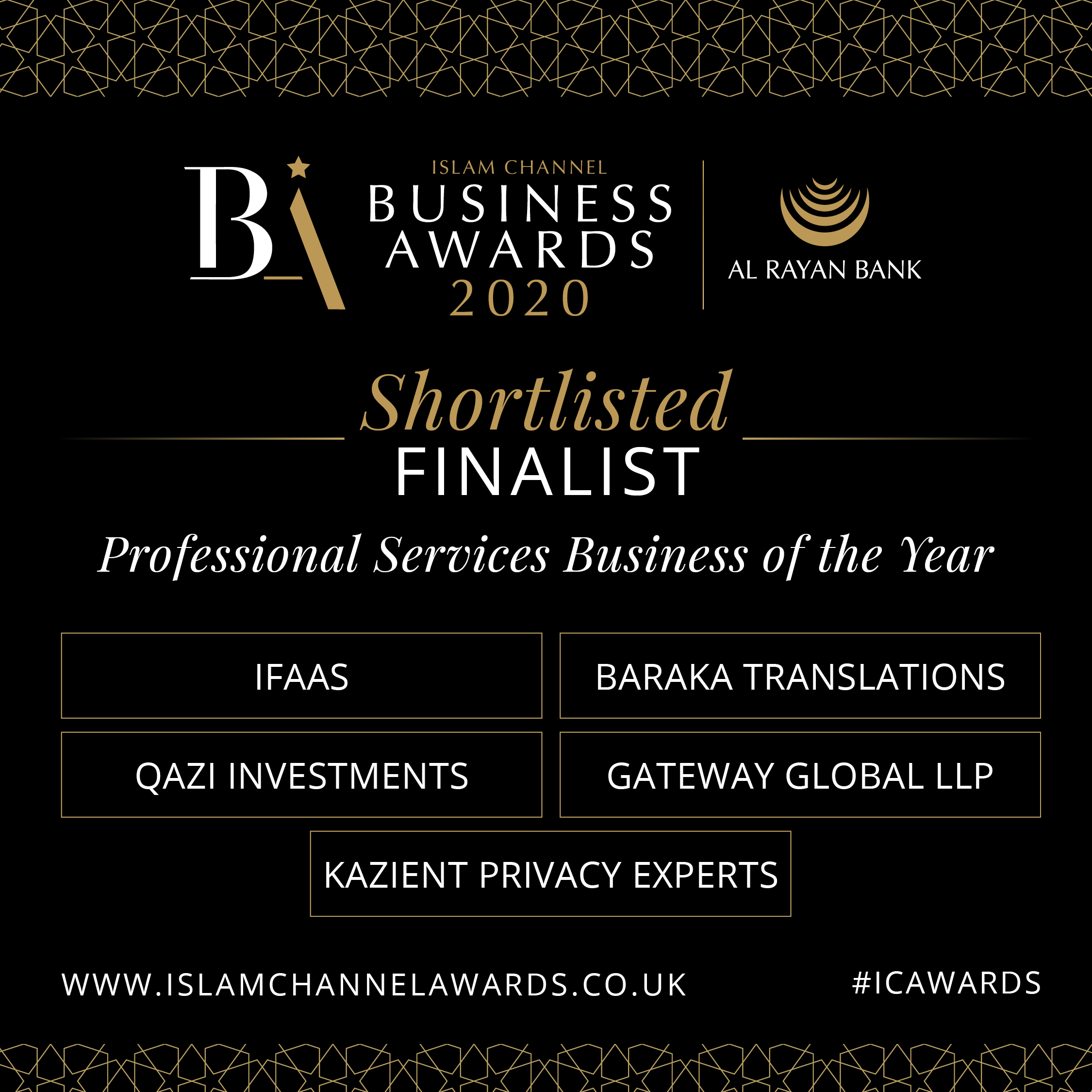 Finalist Professional Services Business of the Year